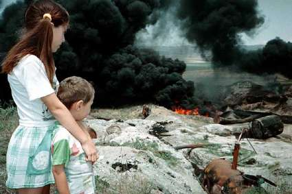 Guerra in Cecenia. Foto: Musa Sadullajew.