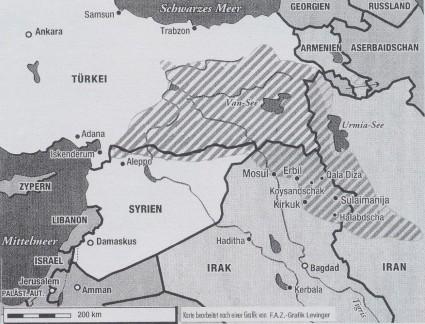 Cartina Kurdistan.Una Panoramica Pluralita Kurda Mosaico Kurdistan Tilman Zulch 14 6 2007