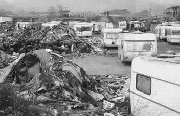 Roma-Lager in Bozen Süd