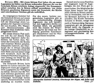 Dolomiten, 13. Dezember 1994
