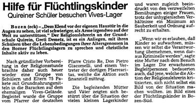 Dolomiten, 19. Dezember 1994