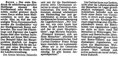 Dolomiten, 19./20. November 1994